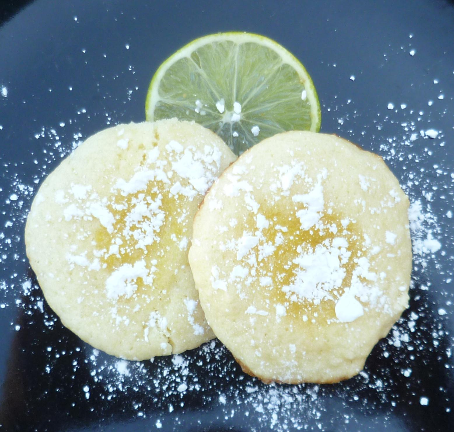Key Lime Thumbprint Cookies - Burnt Apple