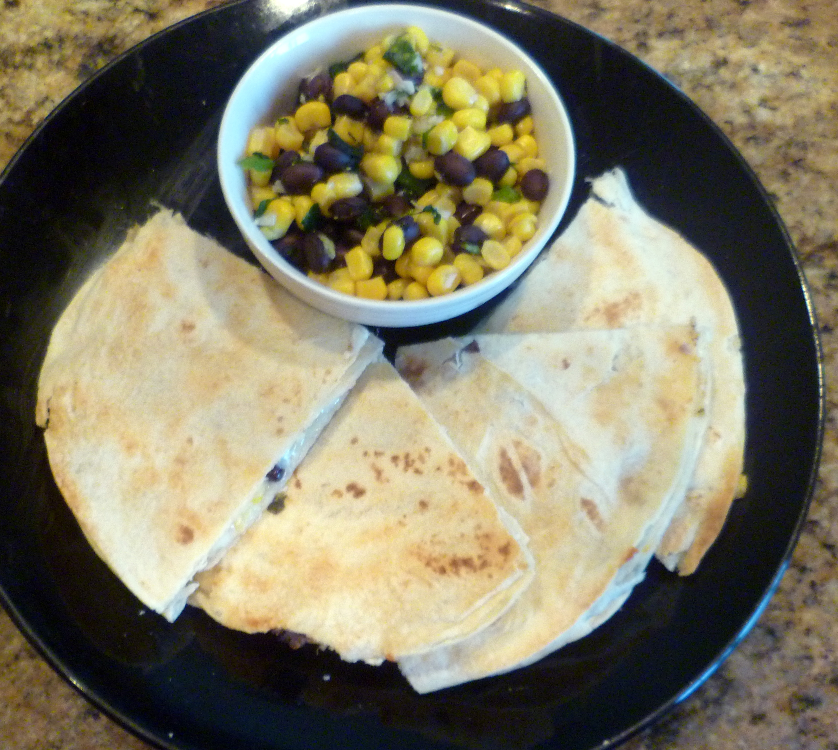 black beans and corn