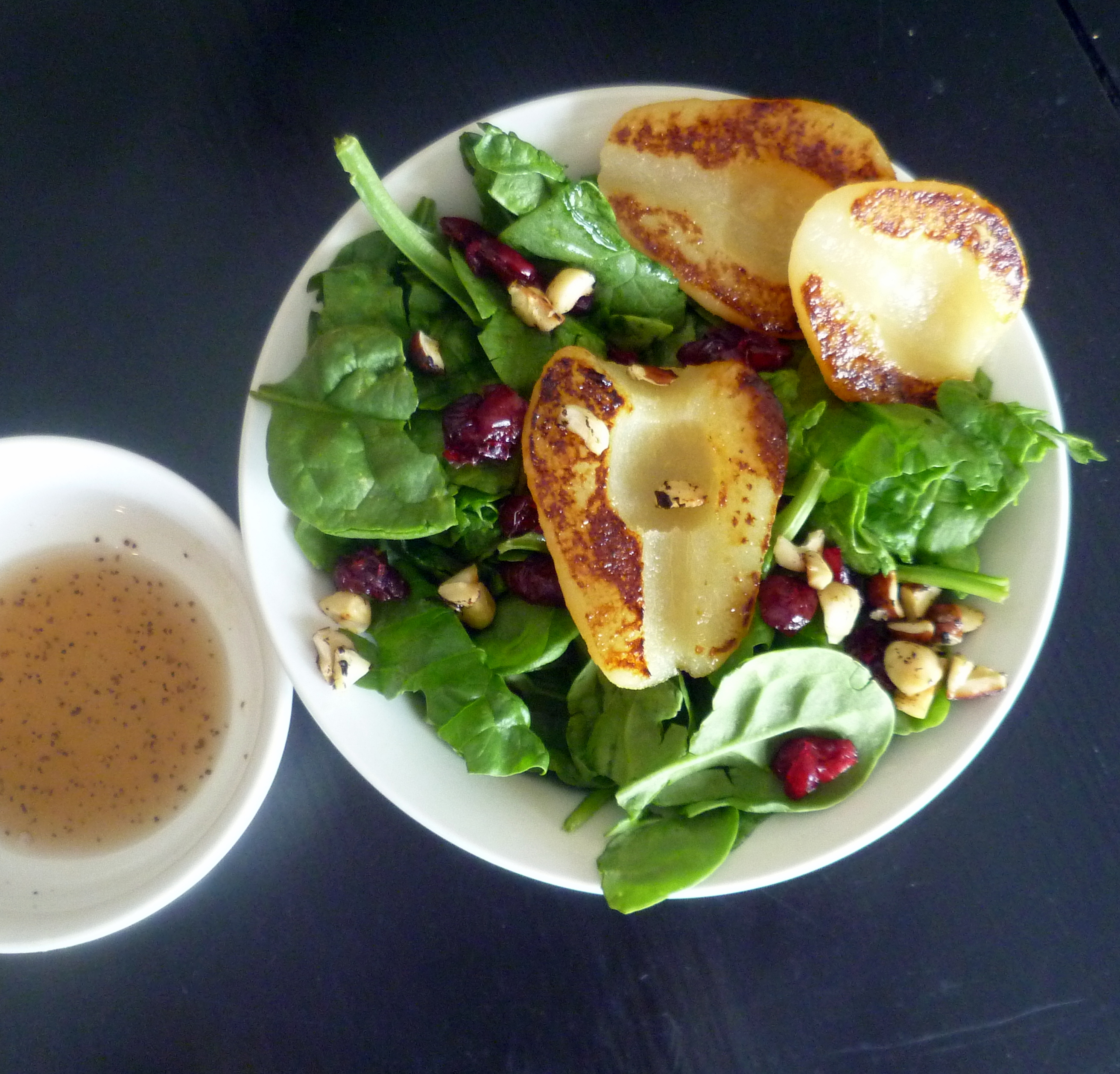 Grilled Pear Salad with Sweet Honey Pear Vinaigrette - Burnt Apple