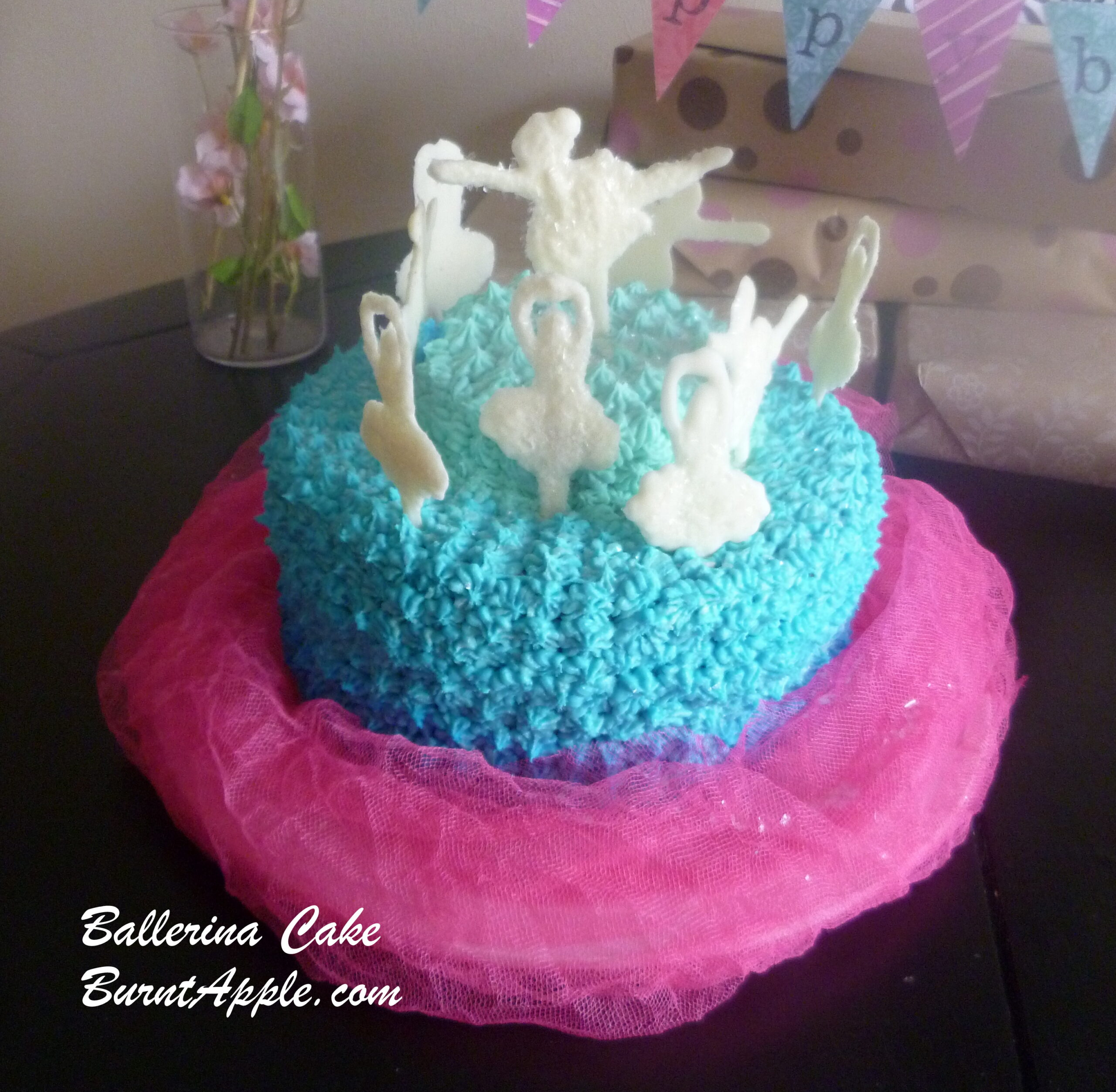 White Chocolate Ballerina Cake
