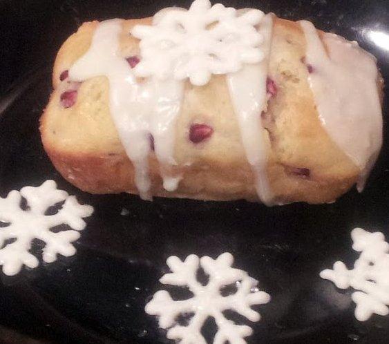White Chocolate Pomegranate Bread