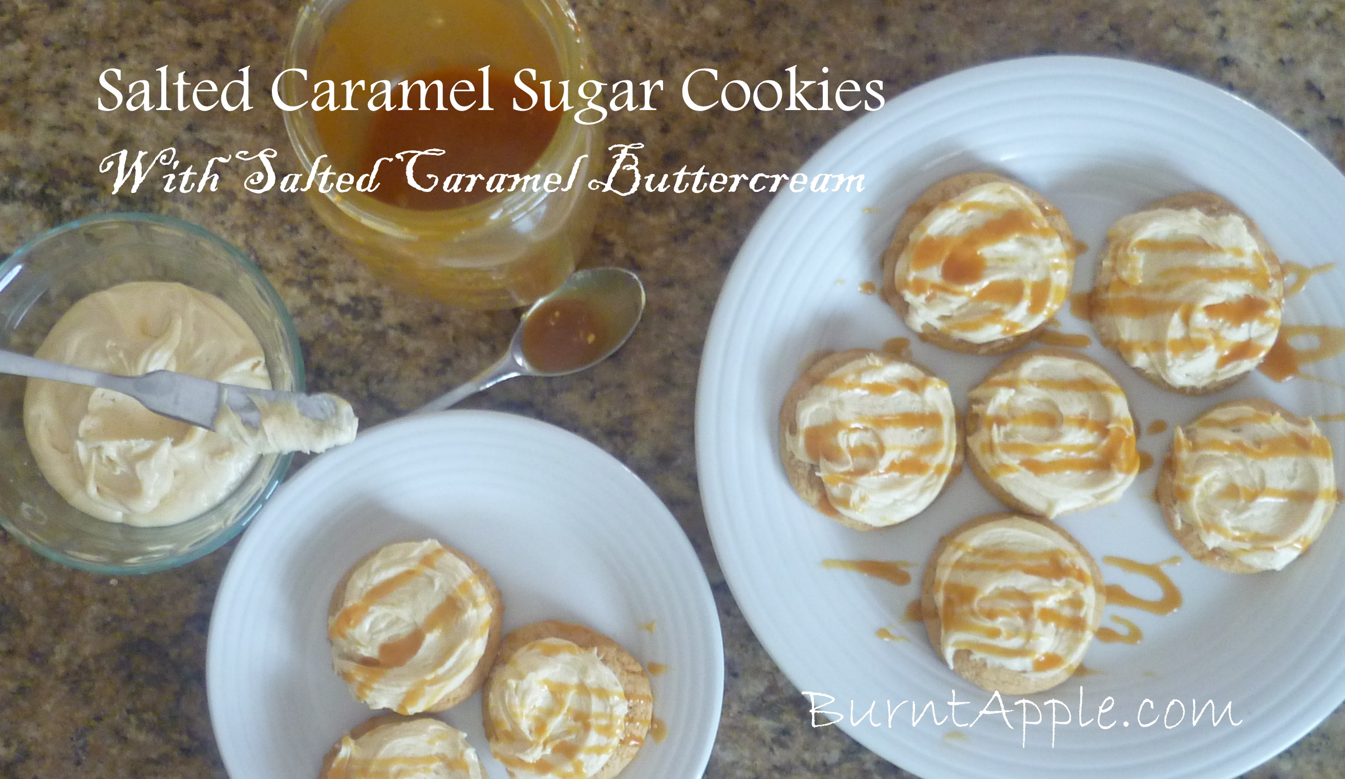 Salted Caramel Sugar Cookies with Salted Caramel Buttercream Frosting