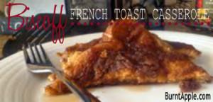 biscoff french toast casserole