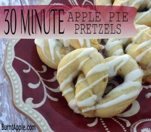apple pie pretzels