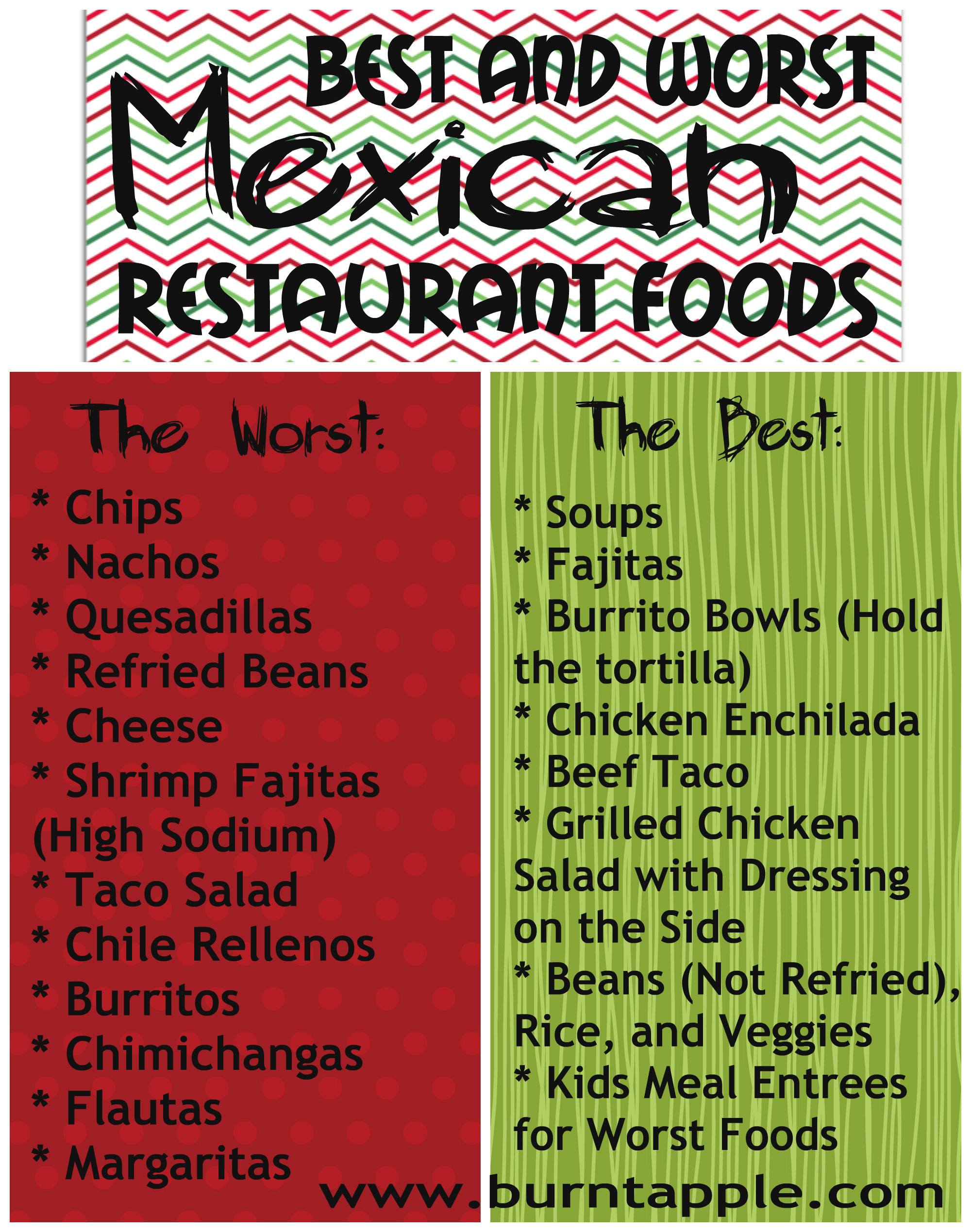 Best diet options at mexican restaurant