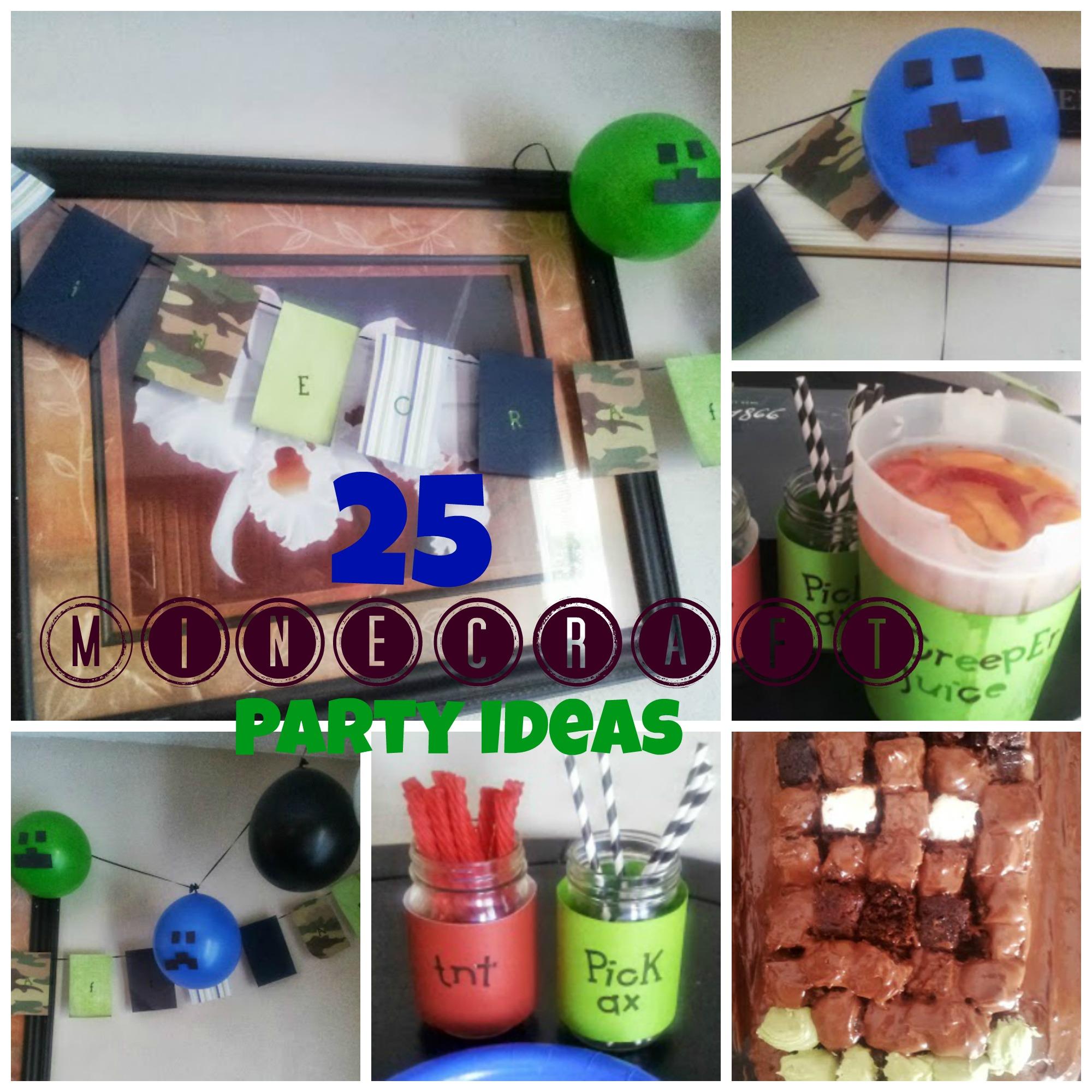Mine craft birthday ideas - 25 Minecraft Birthday Party Ideas