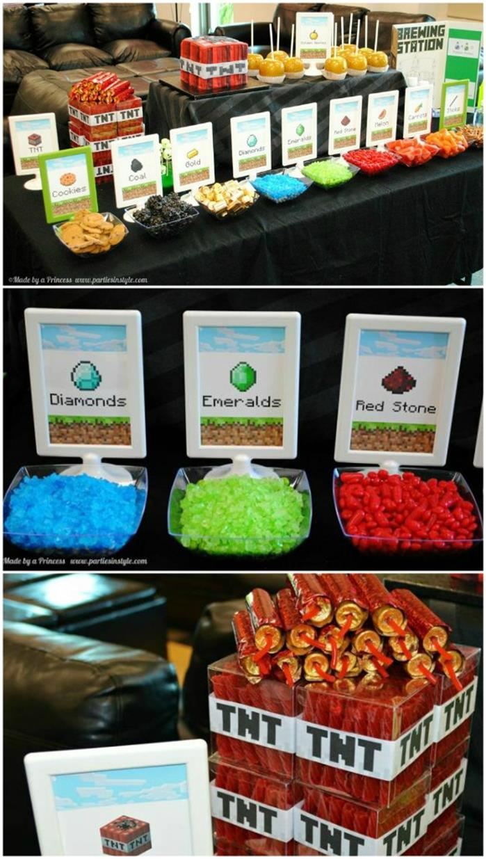 Minecraft Party Decorations 25 Minecraft Birthday Party Ideas Burnt Apple