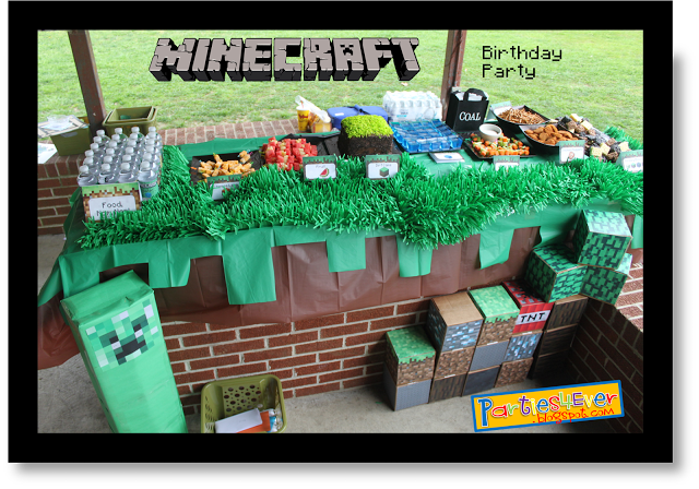25 Minecraft Birthday Party Ideas - Burnt Apple