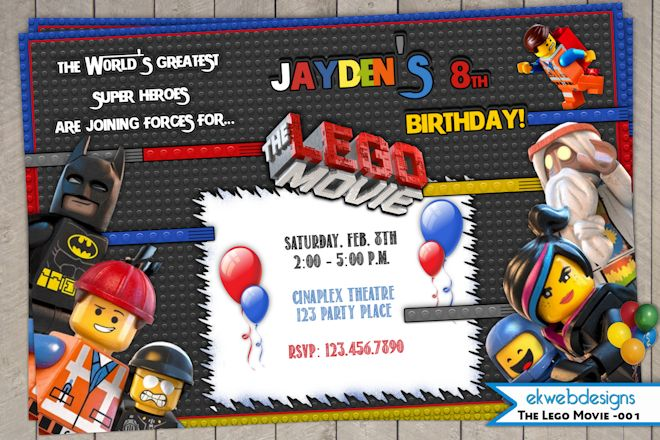25 Lego Movie Birthday Party Ideas Burnt Apple – Lego Party Invitations Printable