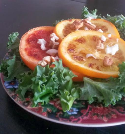 grilled citrus kale salad