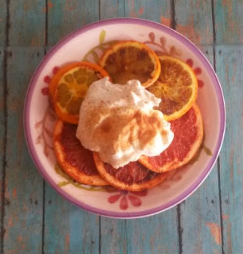 grilled citrus fruit dessert