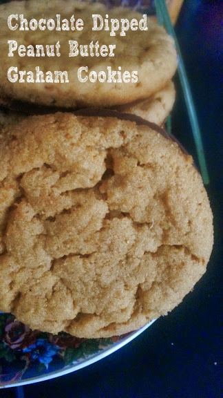 Chocolate Dipped Peanut Butter Graham Cookies - Burnt Apple