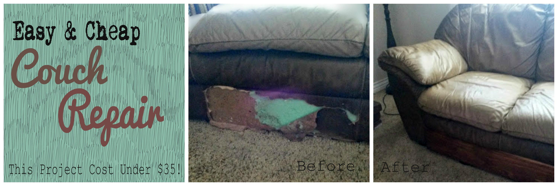 cheap couch repair