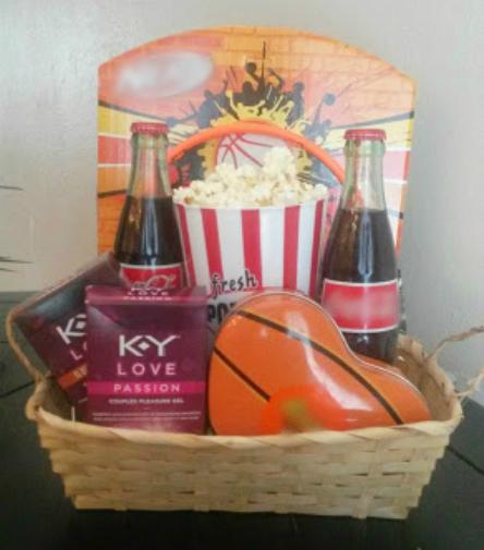 sports valentines day gift basket