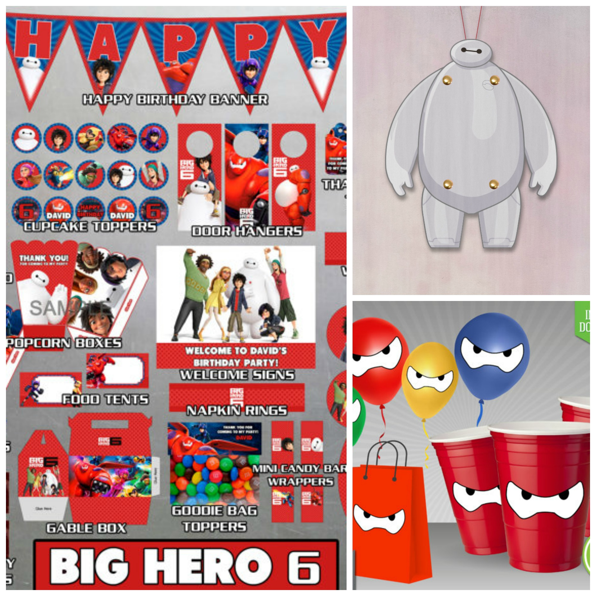 Time To Get Up Some Big Hero 6 Decorations Set The Mood Baymax Eyes Printable From Party