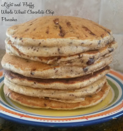 ... Fluffy White Whole Wheat Flour Chocolate Chip Pancakes - Burnt Apple