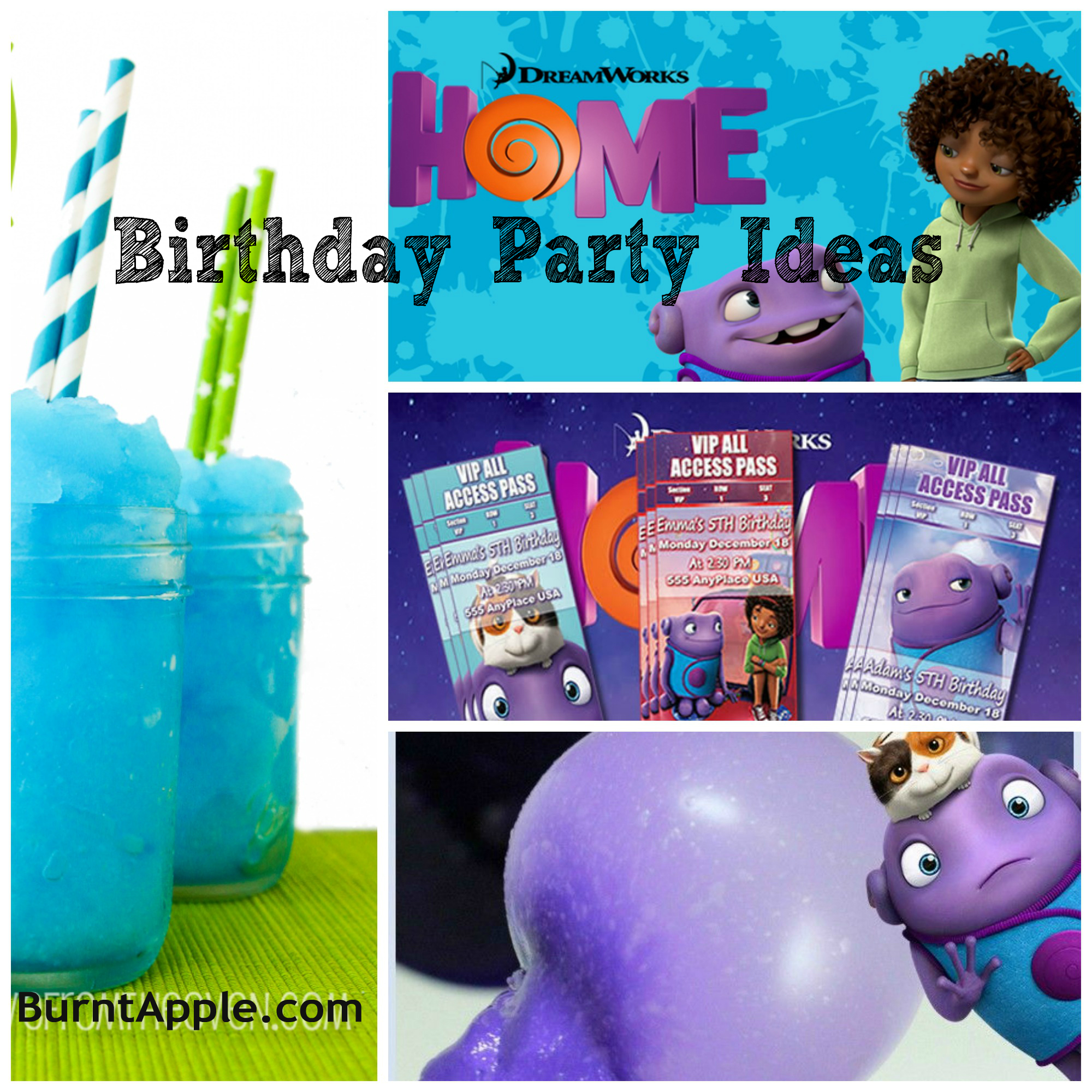 Dreamworks Home Birthday Party Ideas Burnt Apple