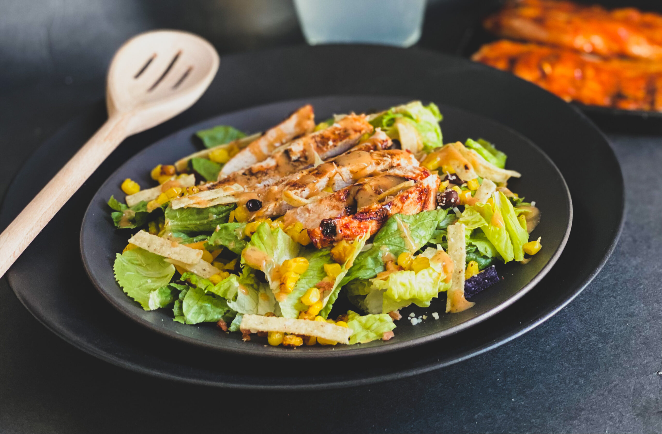 barbeque salad chicken salad tortilla barbeque sauce five ingredient gluten free dairy free egg free nut free soy free