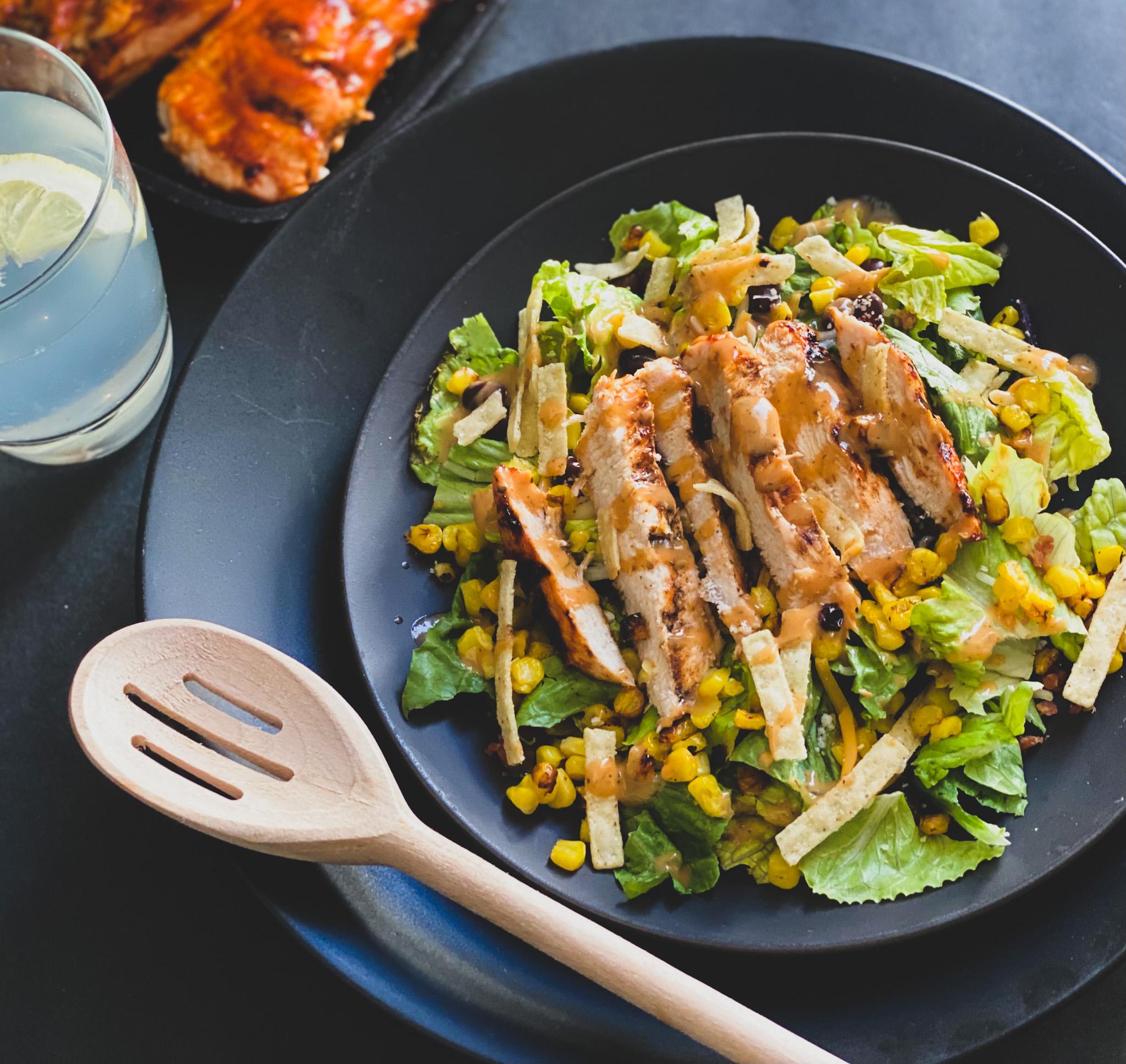 barbeque salad chicken salad