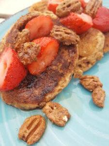 candied pecan pancakes