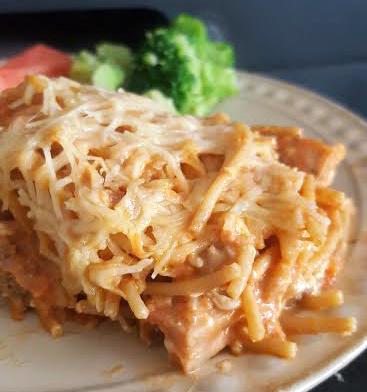 creamy spaghetti casserole
