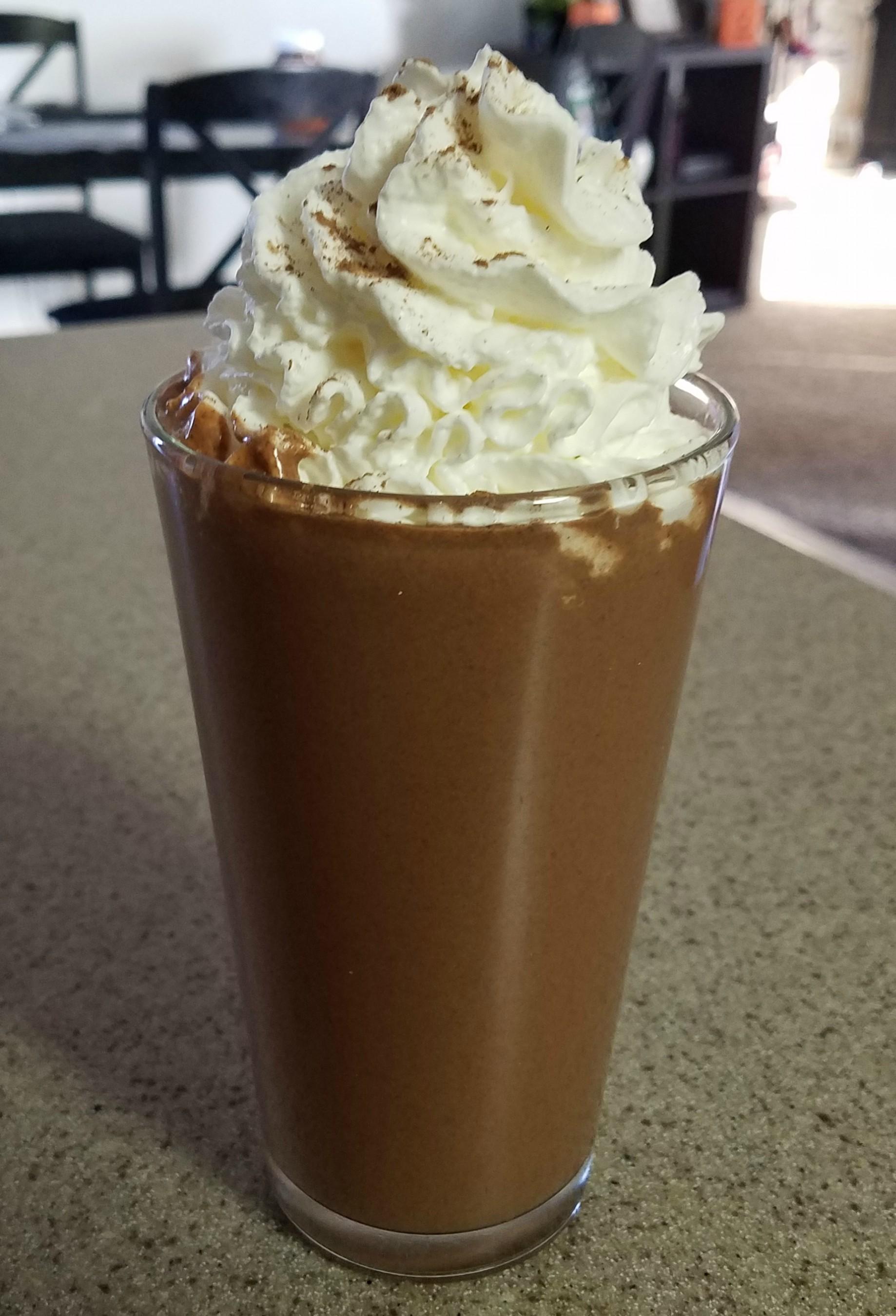 nutella protein milkshake