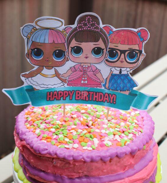 Easy Lol Surprise Doll Birthday Cake Superbowl Recap Burnt Apple