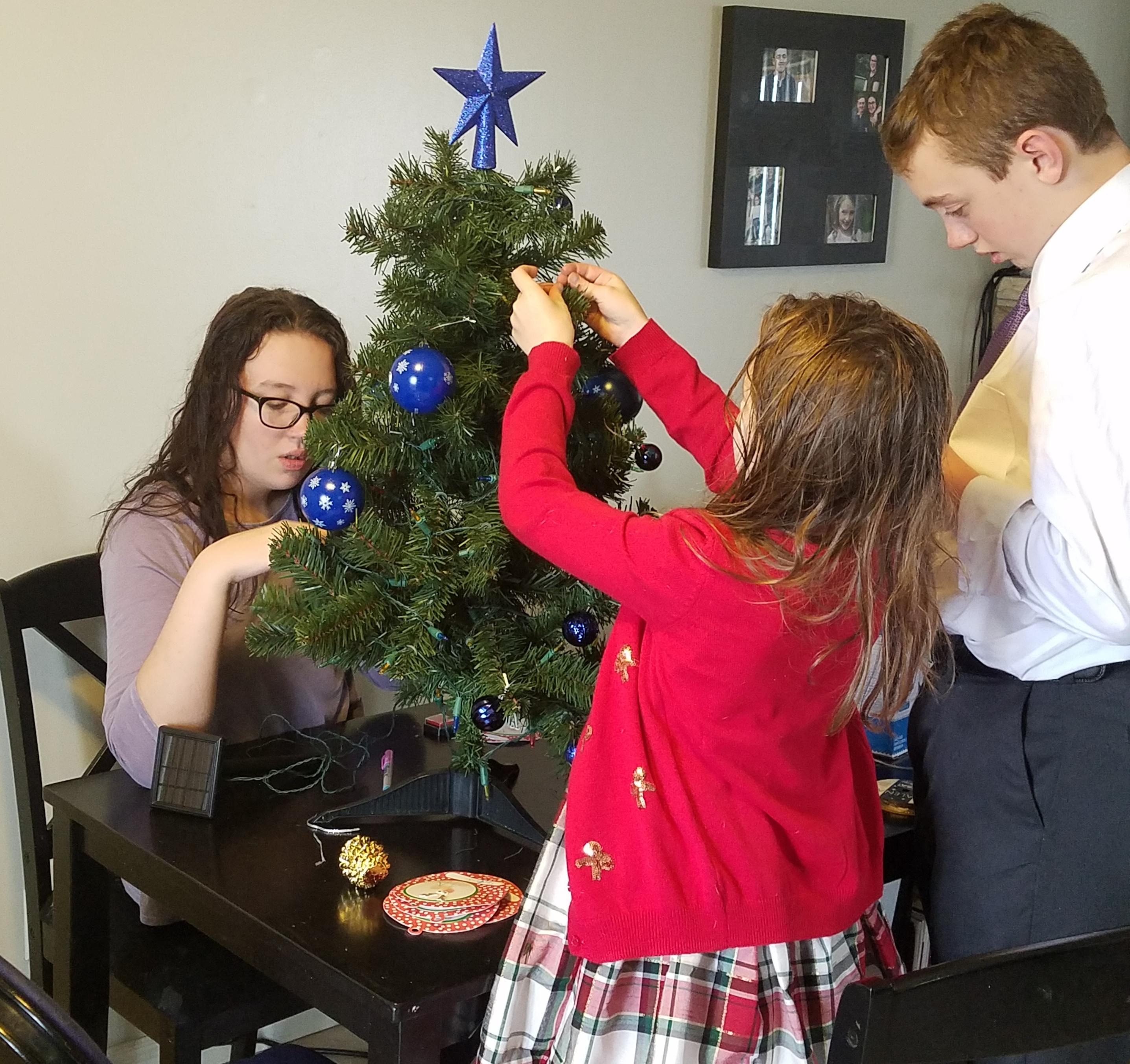 decorating dads tree