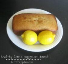 healthy lemon poppyseed bread