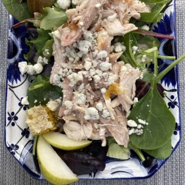 pear honeycomb salad