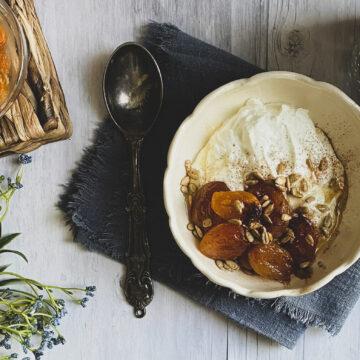 apricots with greek yogurt