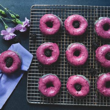 blackberry donut