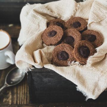 gluten free dairy free rolo cookies chocolate caramel cookies
