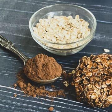 no bake cookies fart cookies cocoa oatmeal peanut butter oats